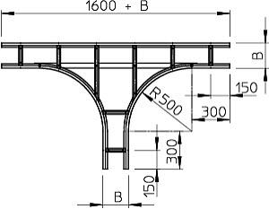 Ответвитель T-образный горизонт. осн. 300х110 WLT 1130 FT OBO 6312721 купить в интернет-магазине RS24