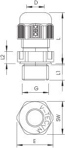Ввод кабельный Dкаб. 16-28 (Dмонтаж. отв. 40) IP68 V-TEC VM L40 LGR OBO 2022953 купить в интернет-магазине RS24