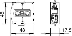 Вставка для УЗИП (Класс II) 320В V20-C 0-320 OBO 5099848 купить в интернет-магазине RS24