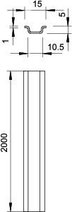 Рейка монтажная 2000х15х5 46277 GTPL (дл.2м) OBO 1115359 купить в интернет-магазине RS24