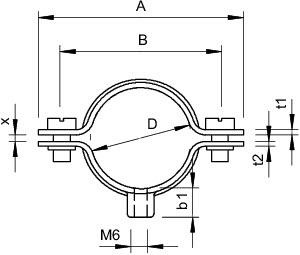 Скоба креп. дистанционная 28-30мм 732 30 V4A OBO 1360670 купить в интернет-магазине RS24