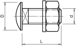 Болт с плоской головкой M10х20 FRS VA4301 OBO 6406866 купить в интернет-магазине RS24