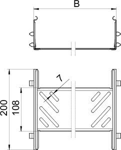 Комплект продольных соед. 110х100х200 KTSMV 110 VA4301 OBO 6069134 купить в интернет-магазине RS24