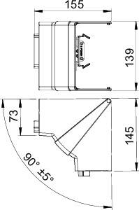Угол внутренний регулируемый кабель-канала Rapid 80 ABS-пласт. GK-IH70130CW крем. OBO 6274441 купить в интернет-магазине RS24