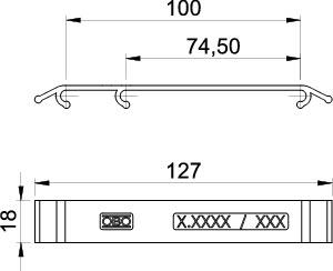 Табличка маркировочная 127х18 KS GR LBL OBO 6017714 купить в интернет-магазине RS24