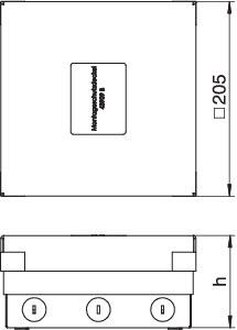 Лючок 4UDHOME4 2V MT U OBO 7427248 купить в интернет-магазине RS24