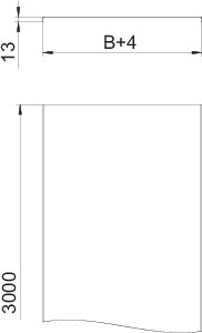 Крышка для лотка осн.200 L3000 сталь 1мм DRLU 200 FS OBO 6052210 купить в интернет-магазине RS24