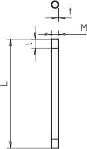 Труба с резьбой горячее цинк. M20 3000мм SM20W FT (дл.3м) OBO 2046534 купить в интернет-магазине RS24
