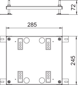 Опора регулируемая для лючка 245х256х15мм HE60 UDHOME9 сталь OBO 7427444 купить в интернет-магазине RS24