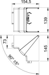 Угол внутренний регулируемый кабель-канала Rapid 80 ABS-пласт. GK-IH70130LGR свет. сер. OBO 6274442 купить в интернет-магазине RS24
