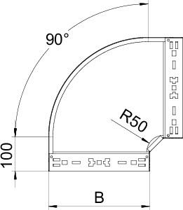 Угол для лотка 90град. 600х85 RBM 90 860 FS OBO 6041500 купить в интернет-магазине RS24
