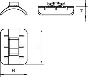 Пластина для U-образ. скобы d22-28мм 2058 28 LGR OBO 1195271 купить в интернет-магазине RS24