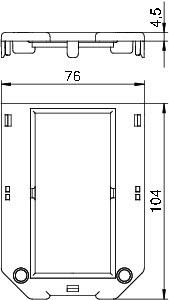 Накладка на монтажную коробку 104х76мм GB23 P4 OBO 7407268 купить в интернет-магазине RS24