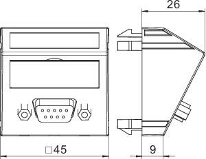 Рамка Modul45 мультимедийная D-Sub9 MTS-DB9 S SWGR1 черн. OBO 6104649 купить в интернет-магазине RS24