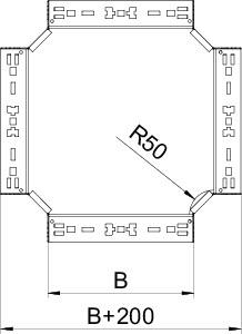 Секция крестообразная 60х300 RKM 630 FS OBO 7027007 купить в интернет-магазине RS24