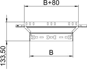 Соединение Т-образ./крестовое 60х600 RAAM 660 FS OBO 6041242 купить в интернет-магазине RS24