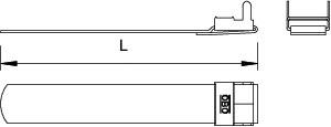 Лента натяжная с фиксатором 300х17х1.0 574 03 30 BA OBO 6490107 купить в интернет-магазине RS24