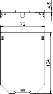 Заглушка для коробки L104мм GB23 P02 OBO 7407240 купить в интернет-магазине RS24