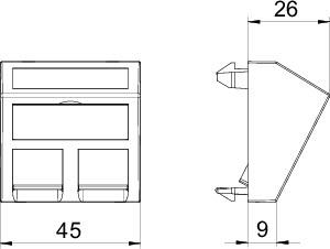 Корпус компьютерной розетки DTS-2A RW1 OBO 6119238 купить в интернет-магазине RS24