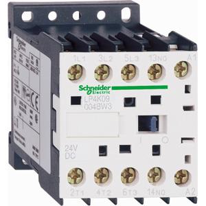 Контактор K 4п/20А (2НО+ 2НЗ) AC1 24В DC 1.8Вт расш. диапазон SchE LP4K09008BW3 купить в интернет-магазине RS24