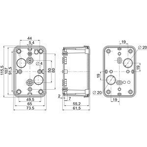 Коробка пласт. 116х74х62 Abs SchE NSYTBS1176 купить в интернет-магазине RS24