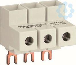 Колодка S1-M3-35 для подкл. 3ф кабеля до 35кв.мм 100А к автоматам типа MS116/132 ABB 1SAM201913R1103