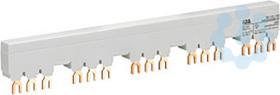 Разводка шинная 3ф PS1-5-1-100 до 100А для 5-и авт. типа MS116 MS132 с 1-м доп. конт. ABB 1SAM201916R1115