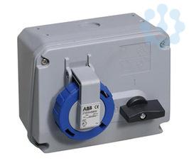 Розетка 16А 2P+E с выкл. и мех. блокировкой IP67 ABB 2CMA167801R1000 купить в интернет-магазине RS24