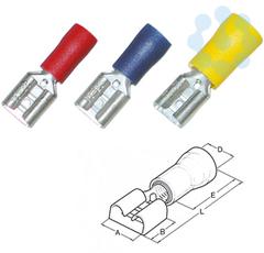 Гильза штепсельная плоская 4-6/6.3х0.8 (уп.100шт) HAUPA 263396 купить в интернет-магазине RS24