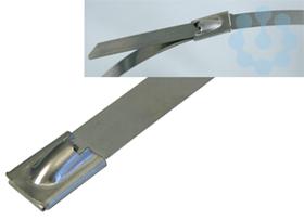 Хомут гибкий 840х12мм стальной SS 316 с блокировкой нерж. (уп.25шт) HAUPA 262960/840 купить в интернет-магазине RS24