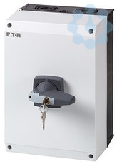 Выключатель-разъединитель 3P+N цилиндрический замок DMM-160/3N/I5/C-G ручка сер. EATON 172799 купить в интернет-магазине RS24