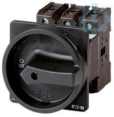 Выключатель нагрузки 3P+1НО+1НЗ 63А запираемый заднее креп. P3-63/V/SVB-SW/HI11 черн. ручка EATON 27010 купить в интернет-магазине RS24