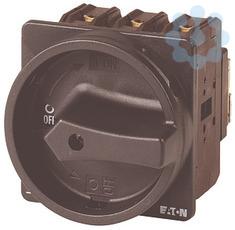 Выключатель нагрузки 3п 100А запираемый перед. креп. P3-100/EA/SVB-SW черн. ручка EATON 062603 купить в интернет-магазине RS24