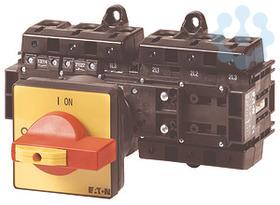 Выключатель нагрузки 6п 1НО+1НЗ Ie=160А 0-1 90град. T6-160-6/V/SVB/HI11 красн. ручка EATON 200619 купить в интернет-магазине RS24