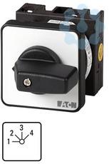 Переключатель ступенчатый 4п Ie=12А 1-4 пол. 45град. 48х48мм перед. креп. T0-8-8477/E EATON 016172 купить в интернет-магазине RS24