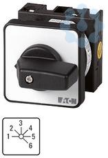 Переключатель ступенчатый 2п Ie=12А пол.1-6 45град. 48х48мм перед. креп. в отверстие 22мм T0-6-8253/EZ EATON 15717 купить в интернет-магазине RS24