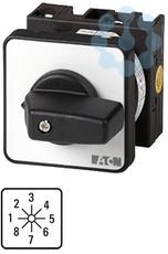 Переключатель ступенчатый 1п Ie=12А 1-8 пол. 45град. перед. креп. T0-4-153/E EATON 013706 купить в интернет-магазине RS24