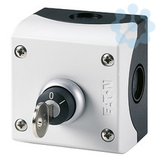 Переключатель с ключом 1 замыкающий + 1 размыкающий контакты цвет корпуса бел. M22-WRS/KC11/I EATON 216526 купить в интернет-магазине RS24