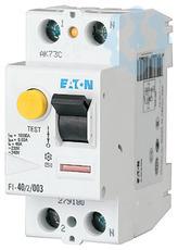 Выключатель дифференциального тока (УЗО) 2п 63А 100мА тип AC 10кА FI-63/2/01 EATON 279191 купить в интернет-магазине RS24