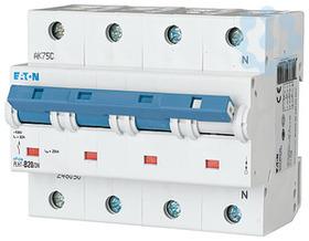 Выключатель автоматический модульный 4п (3P+N) B 20А 25кА PLHT-B20/3N EATON 248050 купить в интернет-магазине RS24