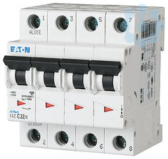 Выключатель автоматический модульный 4п C 3.5А 15кА FAZ-C3.5/4 EATON 279052 купить в интернет-магазине RS24